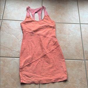 Free People Orange Textured Bodycon Mini Dress SM